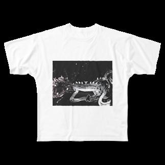 0608knynのモノトーン Full graphic T-shirts