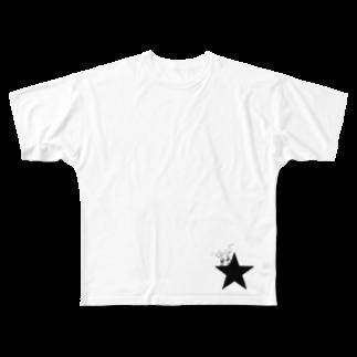yosimusiのブラックスター 005(Blackstar 005)with パキポディウム(Pachypodium) Full graphic T-shirts