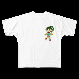 pain_chanのパインちゃん Full graphic T-shirts