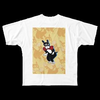 デミのくねくねイーヌ Full graphic T-shirts
