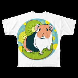 Lichtmuhleのキウイとモルモット Full graphic T-shirts