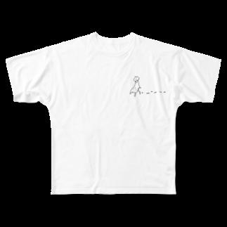 なるの大丈夫、歩いてるよ Full graphic T-shirts