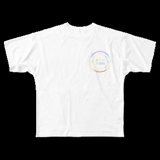 中野智仁のRainbow  Full graphic T-shirts