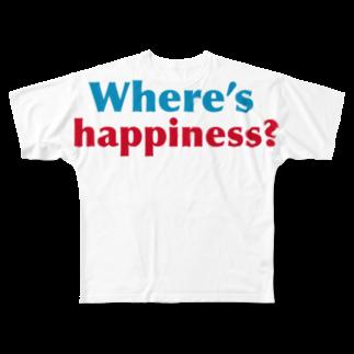竹下キノの店の 幸せを探せ! Full graphic T-shirts