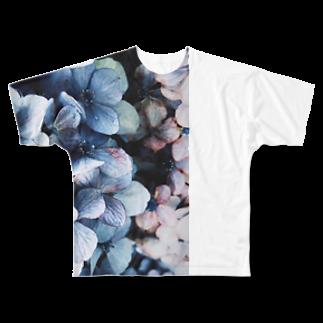 yanagiのhydrangea Full graphic T-shirts