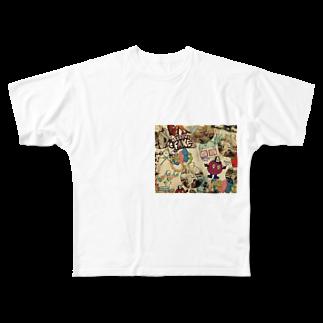 ___Ru____の海外 Full graphic T-shirts