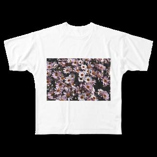 y_toniのflower Full graphic T-shirts