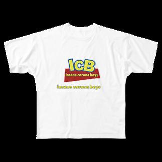 Insane Corona Boys のICB story s/t Full graphic T-shirts