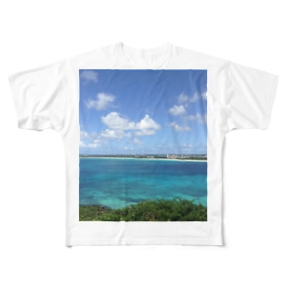 沖縄の海と空 Full graphic T-shirts