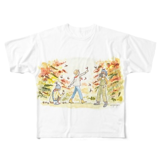 秋の気配 Full graphic T-shirts
