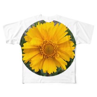 黄色い花 フルグラフィックTシャツ