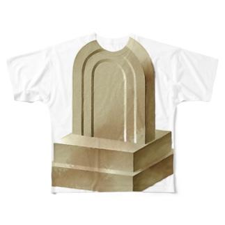 石碑 Full graphic T-shirts