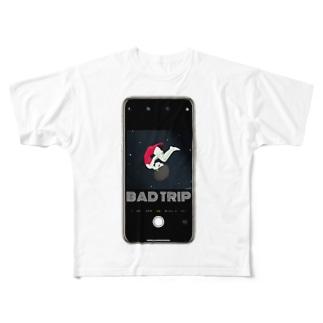 BAD TRIP スマホchill少女 Full graphic T-shirts
