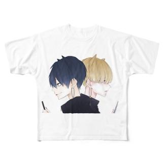 大和と耕四郎 Full graphic T-shirts