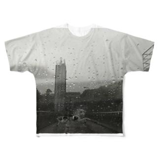 雨 Full graphic T-shirts