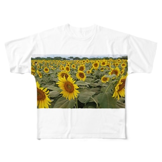 ひまわり畑 Full graphic T-shirts