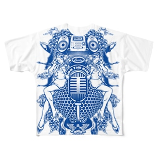 Radio Girl Full graphic T-shirts