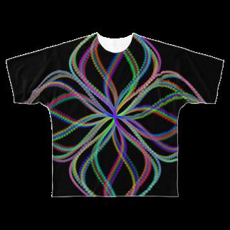 レオナのParametric Curves01(Colors) フルグラフィックTシャツ