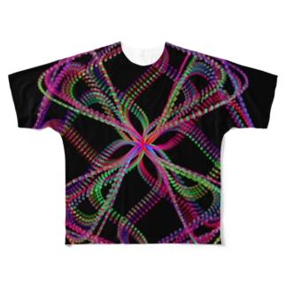 Parametric Curves02(Colors) フルグラフィックTシャツ
