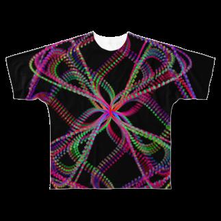 レオナのParametric Curves02(Colors) フルグラフィックTシャツ