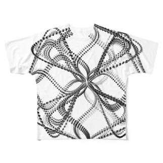 Parametric Curves02(Black) フルグラフィックTシャツ
