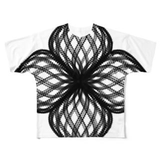 Parametric Curves03(Black) フルグラフィックTシャツ