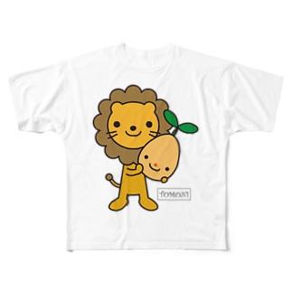 TOMONIらいおん(カラー) フルグラフィックTシャツ