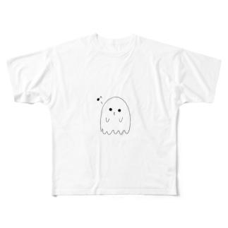 口笛おばけ Full graphic T-shirts