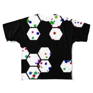 Hexagons フルグラフィックTシャツ