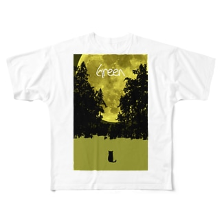 Green Full graphic T-shirts