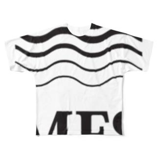 MFS room trim5(黒) Full graphic T-shirts