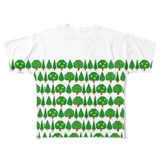 もりもり フルグラフィックTシャツ