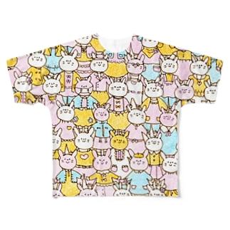 うさぎちゃん! フルグラフィックTシャツ