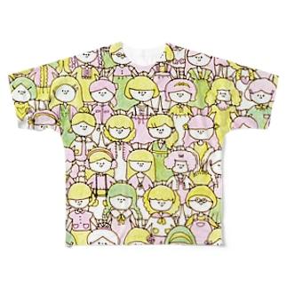 女の子! フルグラフィックTシャツ