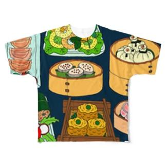 点心ランチセットその2 フルグラフィックTシャツ