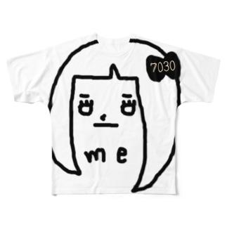 me-7030- フルグラフィックTシャツ