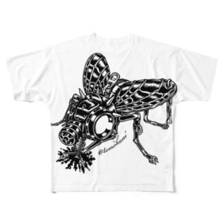 "Animalia Kinky "" Black Fly "" Full graphic T-shirts"