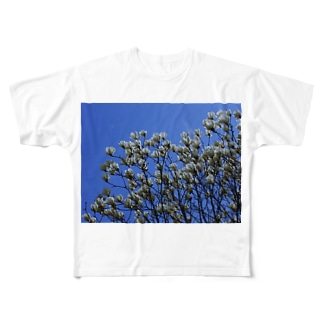 白木蓮 はくもくれん 春 spring DATA_P_103 Full graphic T-shirts
