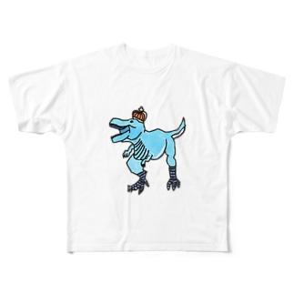 ティラノサウルス フルグラフィックTシャツ
