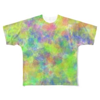 あわい(green) フルグラフィックTシャツ
