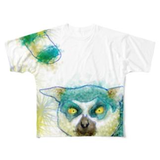 ワオキツネザル フルグラフィックTシャツ