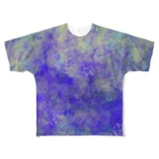 あわい(blue) フルグラフィックTシャツ