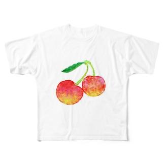Cherry フルグラフィックTシャツ