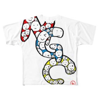 山本彩乃 作『NGC』 Full graphic T-shirts