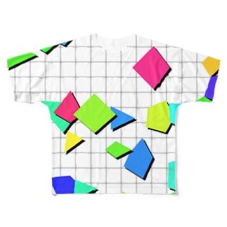 Retro Shapes Full graphic T-shirts