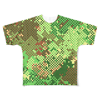 レオナのPolka Dots Camouflage フルグラフィックTシャツ