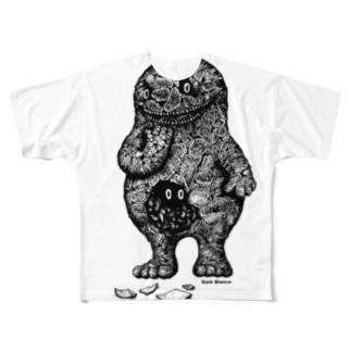 "Dark blanco ""Monster 13"" フルグラフィックTシャツ"