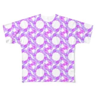 Circle Pattern フルグラフィックTシャツ