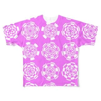 Generative Arcs(Pink) フルグラフィックTシャツ