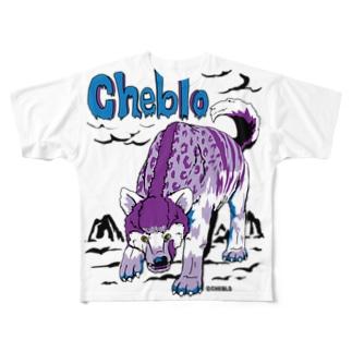 紫の犬みたいなやつ フルグラフィックTシャツ